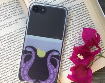 Ursula Themed Phone Case for iPhone 5, SE, 6, 6 Plus, 7, 7Plus, 8, 8 Plus and X. TPU or Wood Options