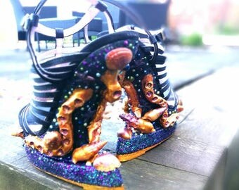 "You ""Poor unfortunate soles"" handmade sea witch shoes"