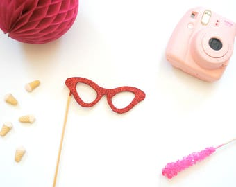 Glitter Eye Glasses Photo Prop- Photo Booth Prop