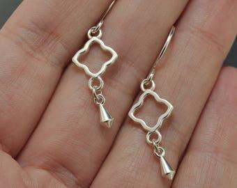 Sterling Silver Dangle Earrings, Drop Earrings, Charm Earrings