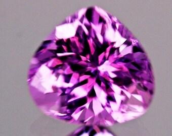 FL, 3.15ct,Heart shape Purple color Kunzite from Afghanistan.