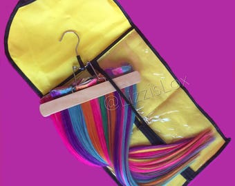 Extension Hanger / carrier / travel bag / clip-in hair extensions / tape extensions