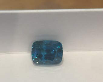 Blue Zircon 7.84ct Loose Gem Precious Ziron Gem Genuine Zircon Long Cushion Cut Zircon 7.84ct Blue Zircom 6A Quality  Pristine Custom Rings