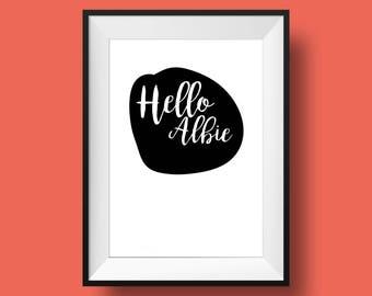 FRAMED - Personalised minimalist A4 art print