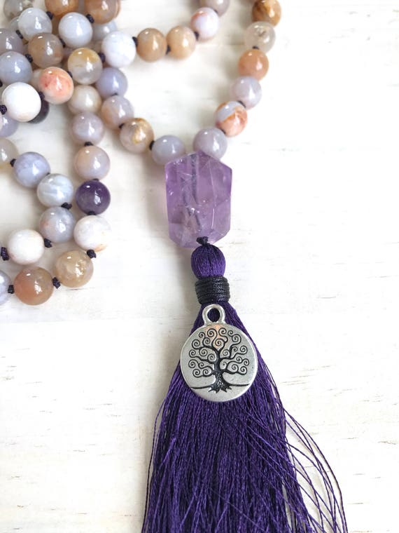Tree Of Life Charm For Mala Beads, Yoga Charm, Yoga Style Jewelry, Mala Necklace Charms, Spiritual Jewelry