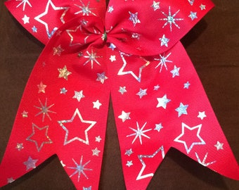 Star cheer bow