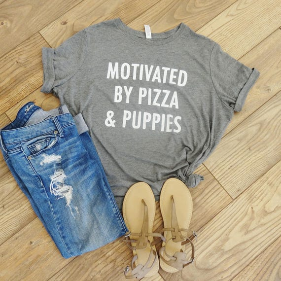 pizza and puppies tee