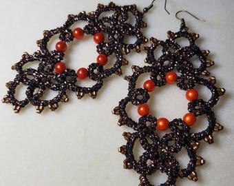 Miyuki Frivolite earrings and magic beads