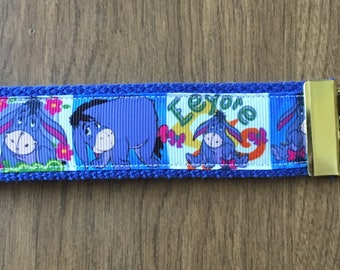 Eeyore Key Chain Wristlet Zipper Pull