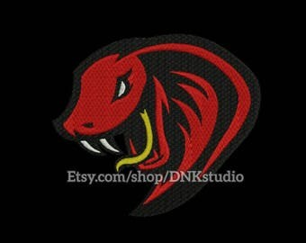 Cobra Snake Embroidery Design - 6 Sizes - INSTANT DOWNLOAD