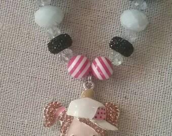Softball/Baseball Girl Bubble Gum Bead Necklace