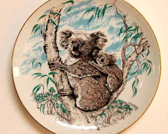 Westminster fine china Australiana Australian koala wildlife plate