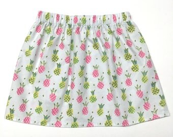 Pineapple Skirts, Pineapples Skirt, Summer Skirt, Pineapples, Baby Girl Skirt, Girls Skirt, Toddler Skirt, Baby Skirt, Cotton Skirt, Skirt