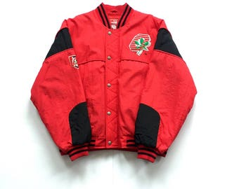 1980s NUTMEG Ohio state buckeyes full zip jacket size large wuilted interior insulated jackets and coats made in USA