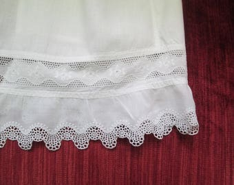 Edwardian Baby/Toddler Pinafore/Slip/Petticoat Broderie Anglaise  #17169