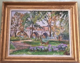 Oil on board Spring in the Park