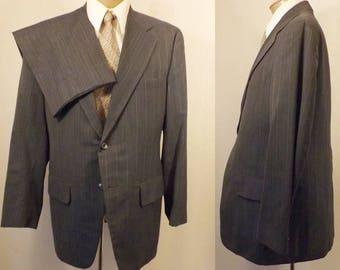 60's Clipper Craft Steel Blue Men's Wedding Suit Size 38