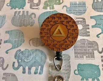 Elephant, Pyramid Badge Holder