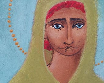 Saint Lucy, original folk icon
