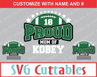 Proud Football Mom, SVG, EPS, DXF, Football Template Cut File for Cutting Machines