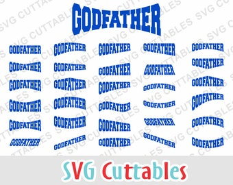 Godfather Layouts set of 30, svg, eps, dxf, Digital cut file for cutting machines