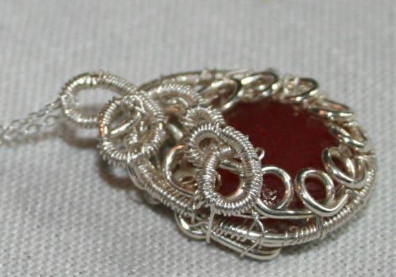 RARE RED SEAGLASS - Pendant
