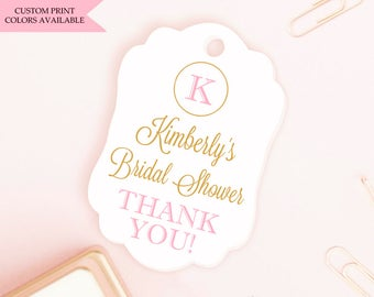 Bridal shower tags (30) - Personalized bridal shower tags - Tags for bridal shower - Bridal shower favor tags - Thank you bridal shower tags