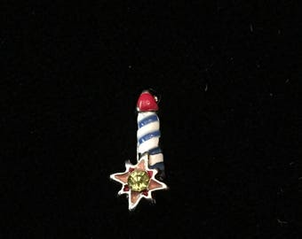 Red, White and Blue firework floating charm fits Origami Owl lockets