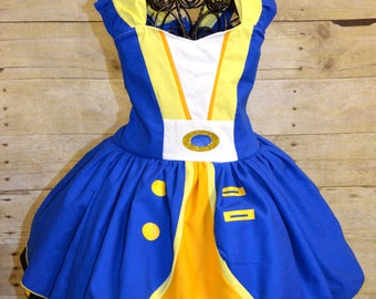 Beast Inspired Custom Dress with Mask Beauty and The Beast Party Dress up Costume