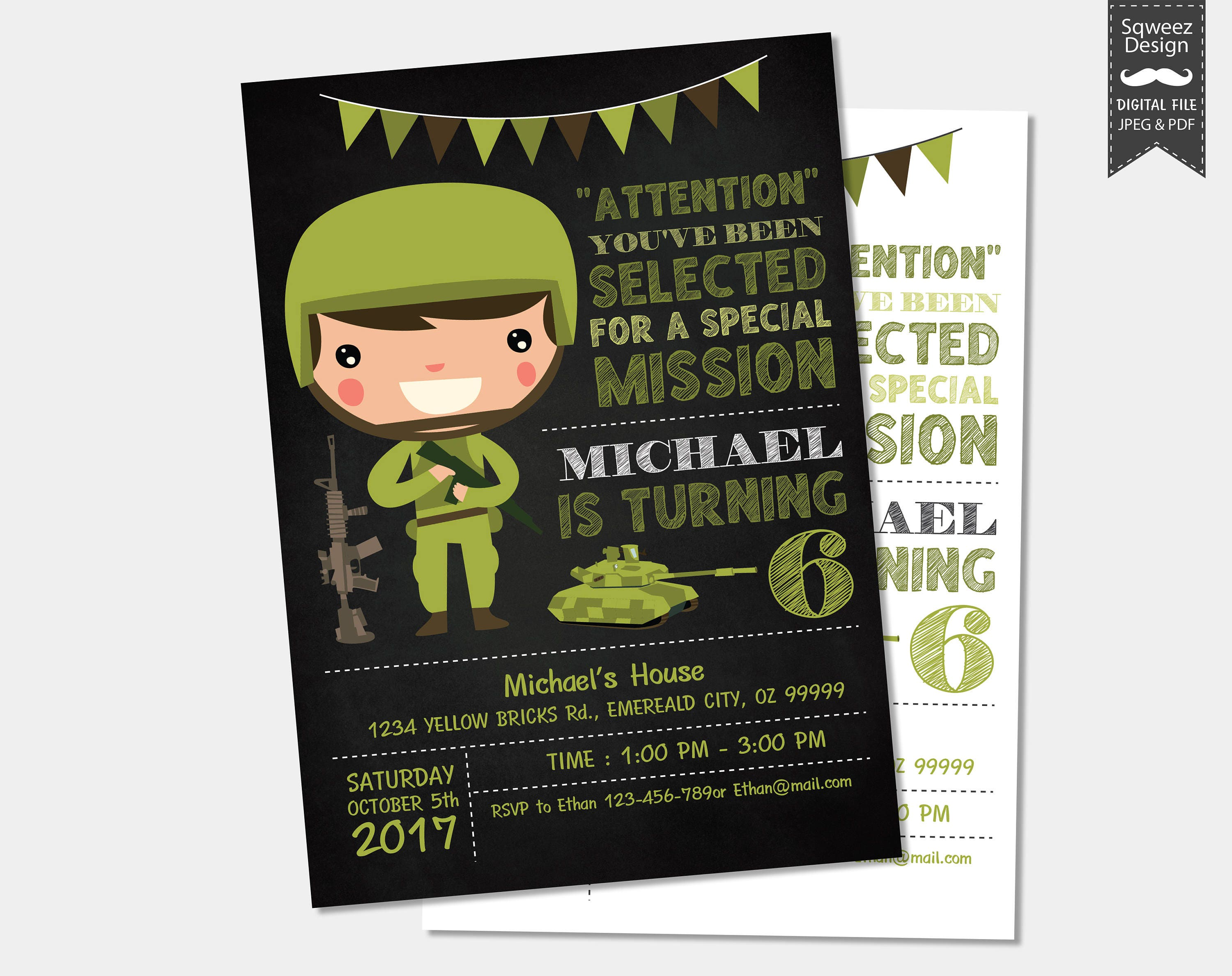 Army Invitations Camo Invitations Soldier Birthday