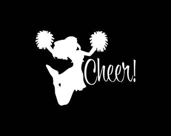 Cheer Decal Cheer Car Decal,Cheerleader Car Decal Truck Laptop Tablet Window Bumper Sticker Cheer Stickers Stickers for Cheerleaders