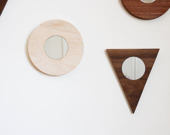 Wall Mirror Triangle Minimal Modern Geometric