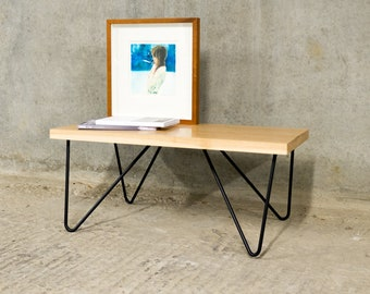 XENO | Oak Coffee Table | Asymmetric Hairpin Legs