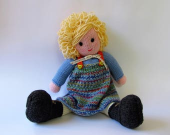 Hand knitted doll - READY TO SHIP