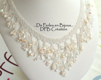 Coral necklace with natural freshwater pearls