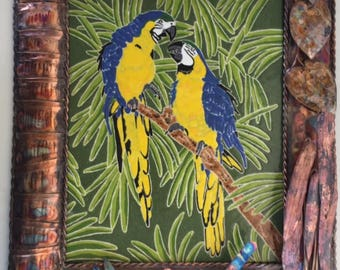 Parrots Wall Hanging