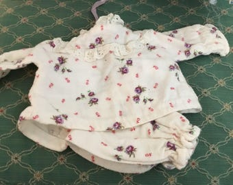 Vintage Baby Doll Flannel Sleep Set