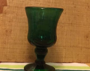 Christmas green glass Tumbler