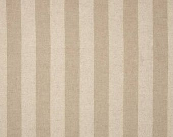 Tan and Natural Linen Striped Fabric by the Yard, Home Decor, Craft, Drapery, or Upholstery Fabric in Contemporary Stripes M178