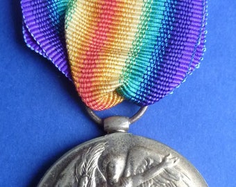 British WW1 Victory Medal - Named To Leading Stoker C.Macaffer. Royal Naval Reserve.