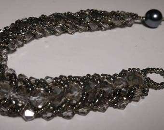 Crystal Smoke Caterpillar Bracelet