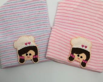 Newborn Baker Hospital Hat.  Newborn Hospital Beanie. Great Gift for a Baker or Cook Baby Hat !