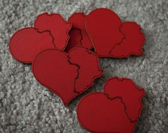 Red Heart Africa Wood Pin