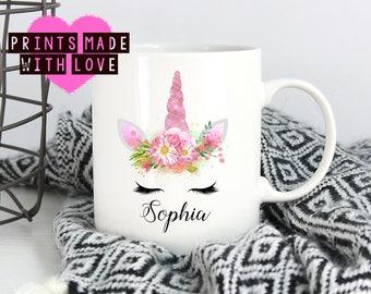 Personalised Unicorn mug any name / friendship gift / aunt / uncle / sister / friend / birthday / Christmas / Secret Santa / Unique