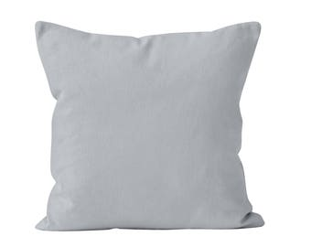 Ready to ship solid light gray Throw Pillow Cover 18x18 throw cushion cover, light gray pillow cover _RTS