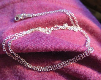 Handcrafted 22 Inch Sterling Silver 925 Rolo Chain with 925 Lobster Claw Clasp, Hallmarked 925