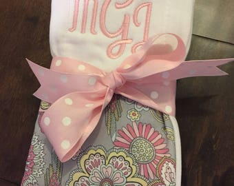 Personalized Burp Cloths (Set of 2)