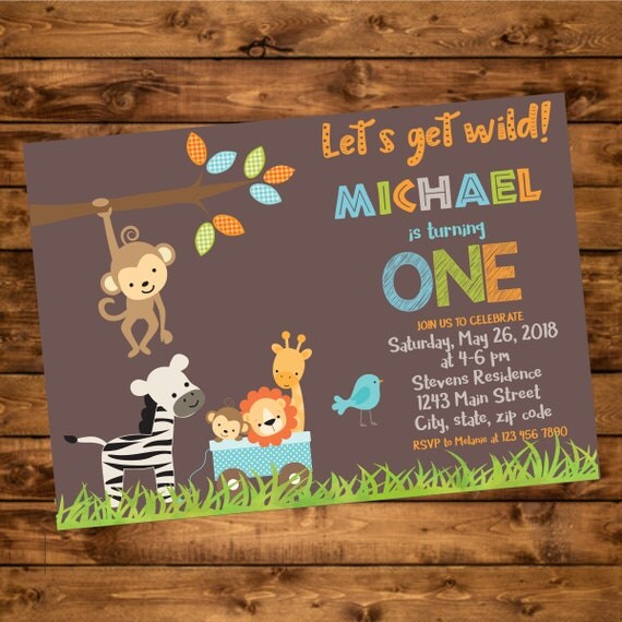 Jungle birthday invitation wild animal birthday party invitations il570xn filmwisefo