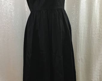 Black ruffle long dress