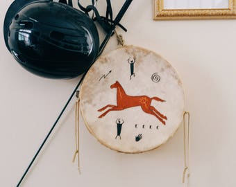 Native Deer Leather Maple frame, two-sided hand drum